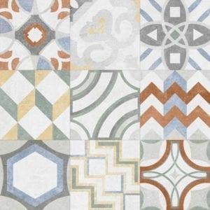 portugese tegels gekleurd