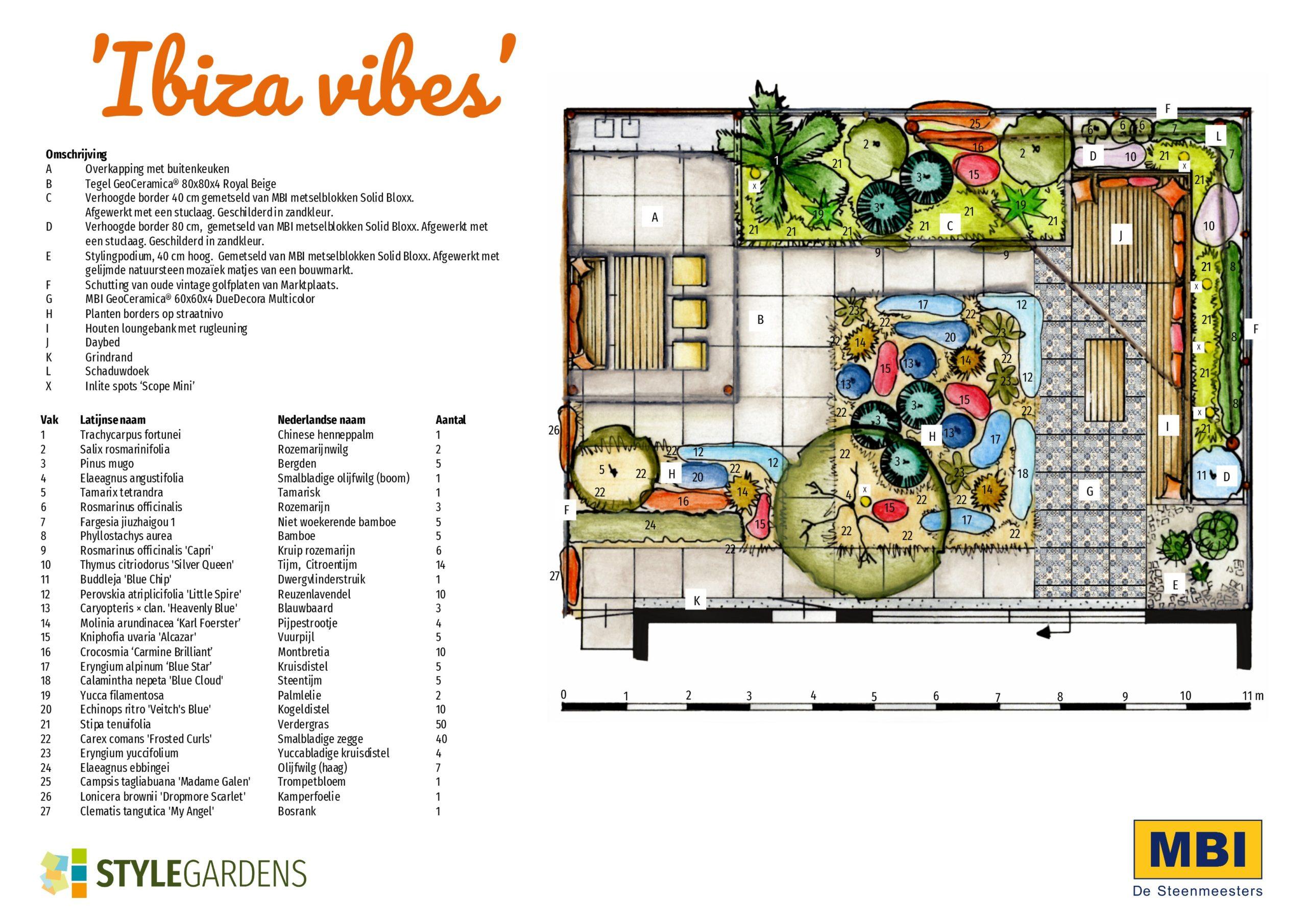 tuin ibiza stijl