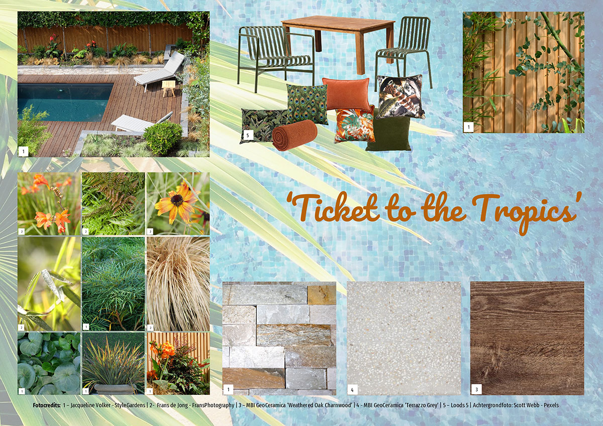 Moodboard tropische tuin